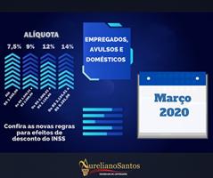 01/03/2020 - O INSS E A TABELA PROGRESSIVA, O QUE MUDA?