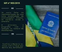 """Medida Provisória nº 905/2019  - """"O Programa de emprego """"verde e amarelo"""""""