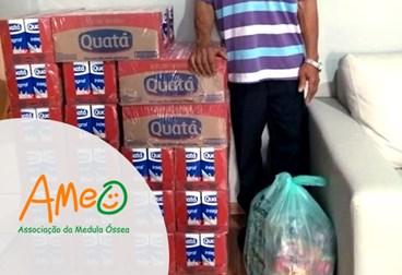 Entrega 30/08/2018 - Doação de 25 caixas de leite