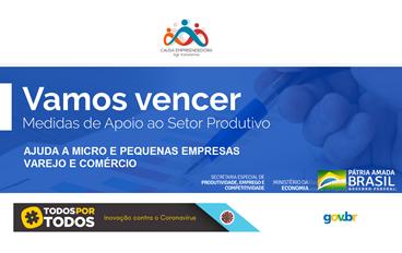 Causa Empreendedora reúne todas as Ajudas do Governo Federal para as micro e pequenas empresas do Varejo e Comércio - Emengência do Codv19