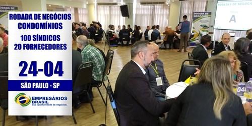 24-04 Rodada de negócios 100 SÍNDICOS e 20 FORNECEDORES - CONDOMÍNIOS - São Paulo
